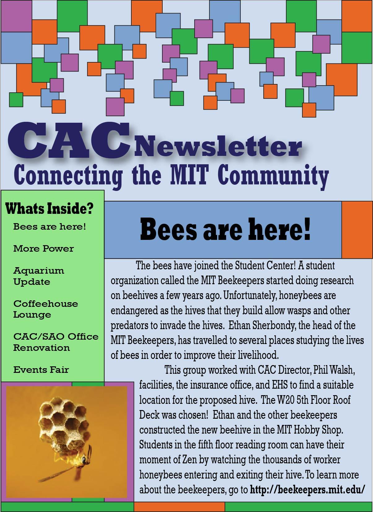 CAC Newsletter 1