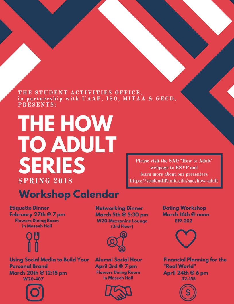 how to adult series flyer