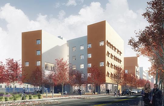 Rendering of New Vassar Street Residence