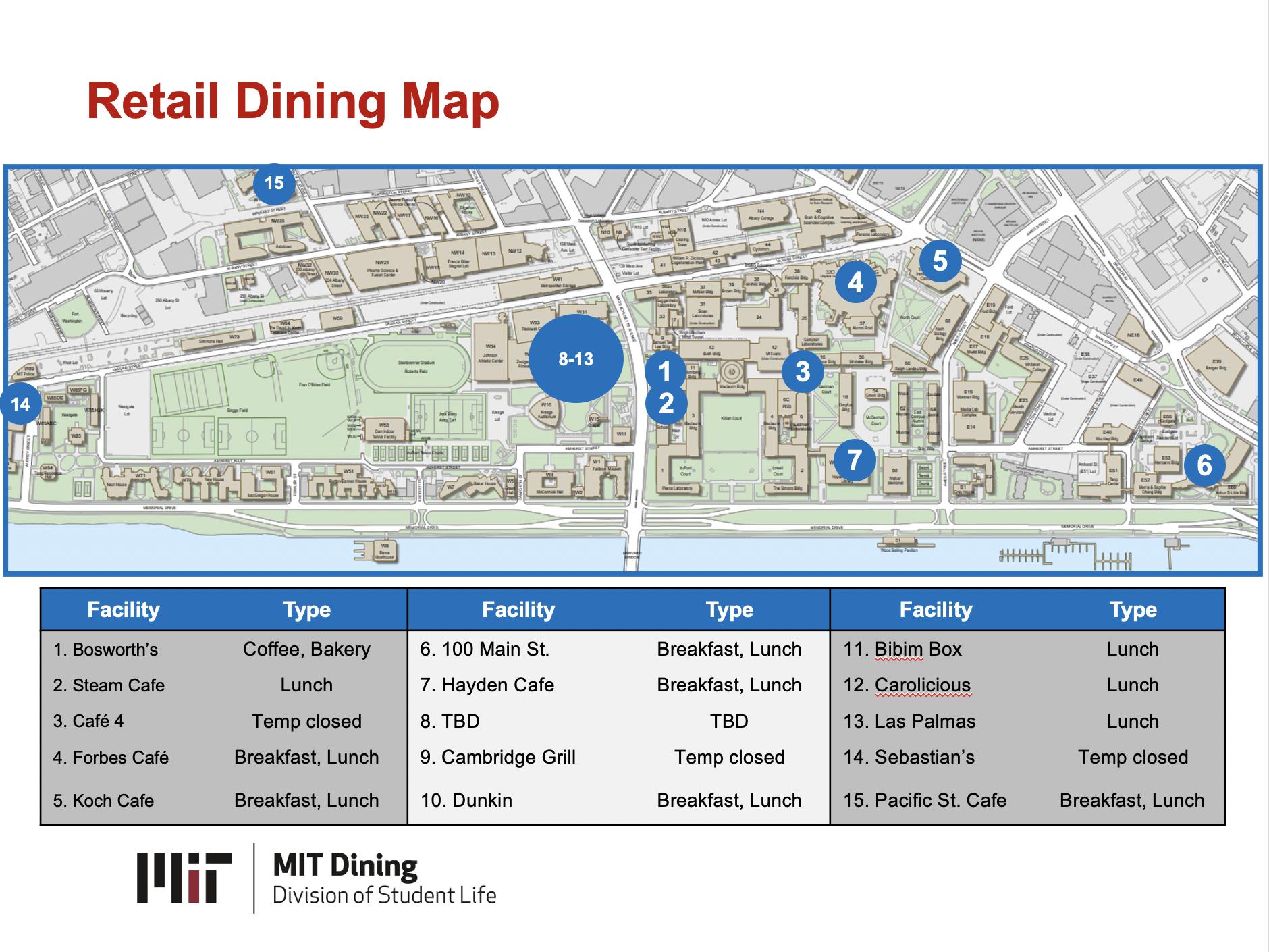 Retail Dining Map