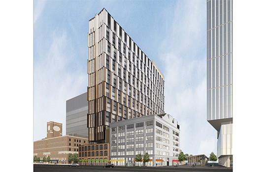 Site 4 graduate residence hall in Kendall Square