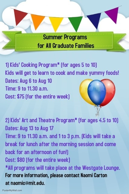 Summer Programs for Graduate Families