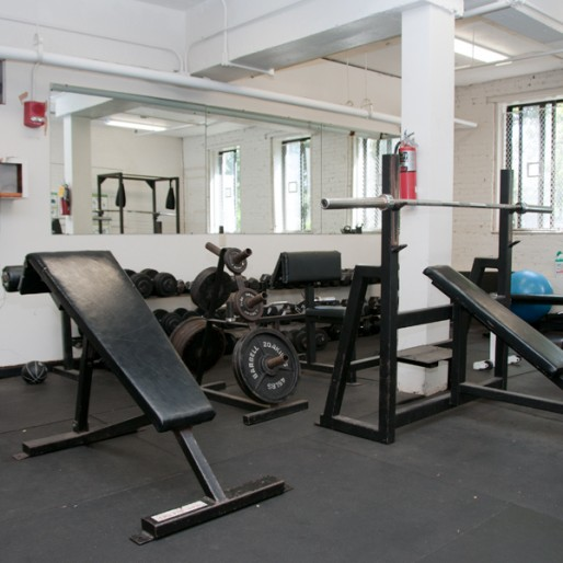 Fitness room at Burton Conner