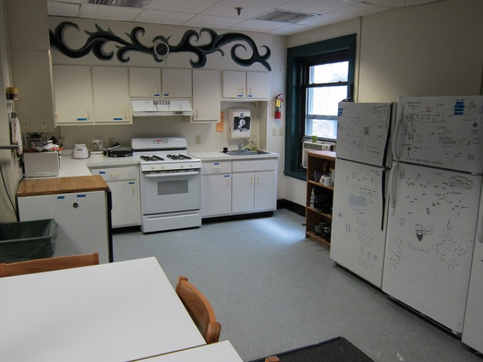 Shared kitchen at Random Hall