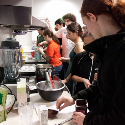 East Campus students cooking