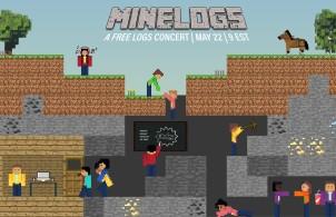 Minecraft-themed MIT Logathythms concert poster