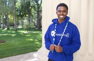 Stewart Issacs, a PhD student in AeroAstro and a world champion jump roper