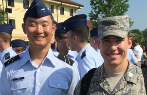 MIT AFROTC cadets Joseph Han and Martin York.