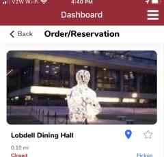 GET App Dashboard Online Ordering System