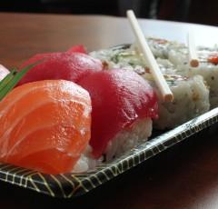 Sushi from Shinkansen