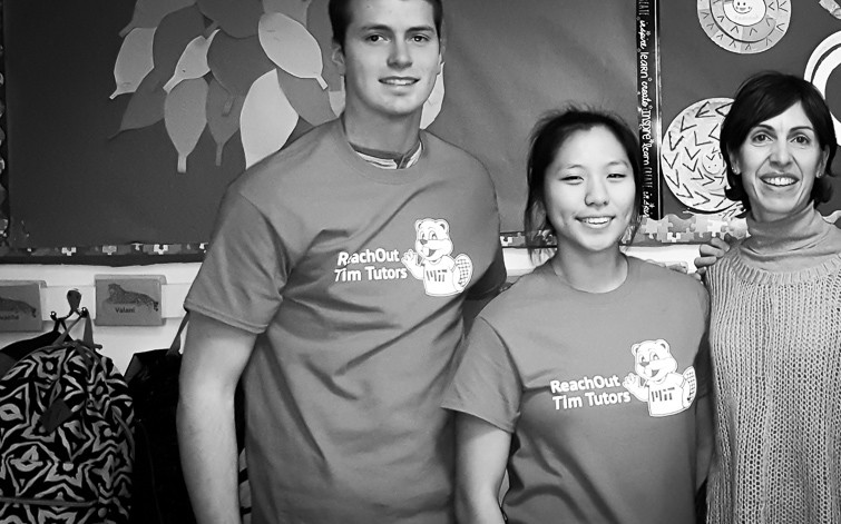 MIT students tutoring at East End House through Tim Tutors
