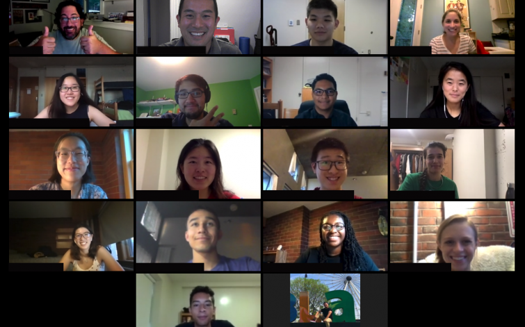 Fall 2020 Wellbeing Ambassadors meeting over Zoom